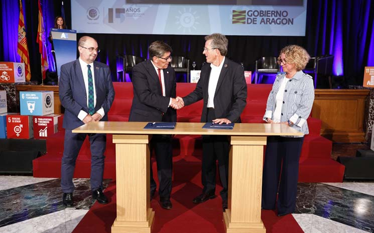 "Firma del Plan ""Aragón y los ODS: Global Goals, Local Business"""